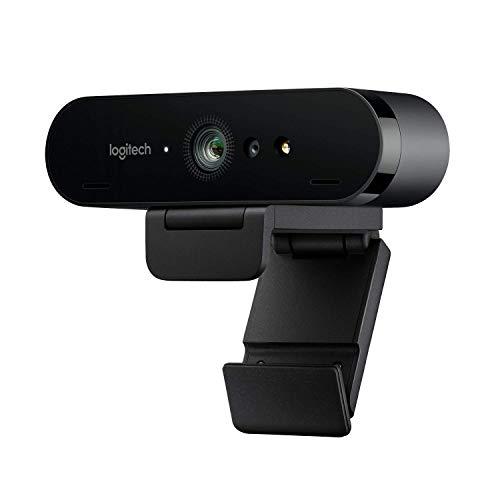 Logitech BRIO ULTRA-HD PRO Webcam, 4K HD 1080p, 5-fach Zoom, Hohe Bildfrequenz, HDR und RightLight 3, USB-Anschluss, Gesichtserkennung...